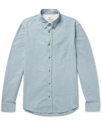 Acne Studios - Isherwood Slim-fit Button-down Collar Cotton-chambray Shirt - Lyst