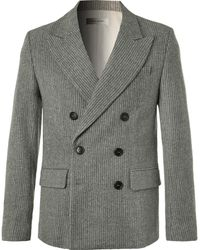 Isabel Marant - Anthracite Maxime Double-breasted Pinstriped Wool-blend Blazer - Lyst