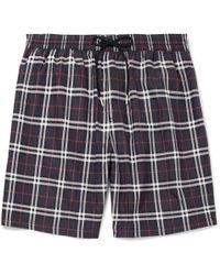 Burberry - Mid-length Checked Swim Shorts - Lyst