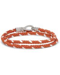 Tod's | Woven Leather Wrap Bracelet | Lyst
