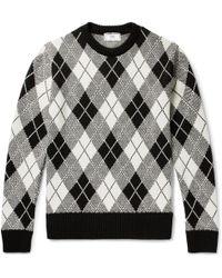AMI - Argyle Jacquard-knit Sweater - Lyst