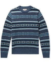 J.Crew - Fair Isle Wool Sweater - Lyst