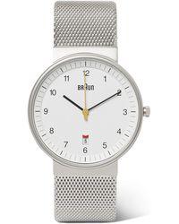 Braun - Bn0032 Stainless Steel Watch - Lyst