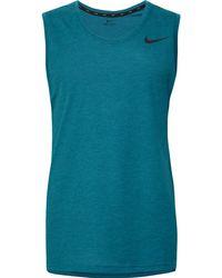 9368ee23f55 Lyst - Nike Mesh Back Training Tank in Blue for Men