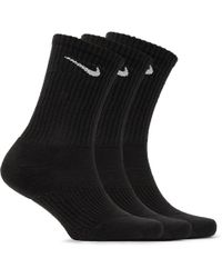 Nike | Three-pack Cushioned Cotton-blend Socks | Lyst