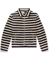 Loewe - + Paula's Ibiza Appliquéd Striped Cotton-terry Zip-up Sweatshirt - Lyst