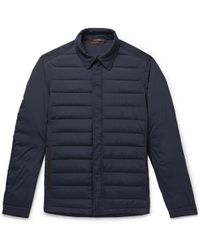 Ermenegildo Zegna - Leather-trimmed Quilted Stretch-shell Jacket - Lyst