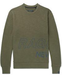 Rag & Bone - Logo-print Loopback Cotton-jersey Sweatshirt - Lyst
