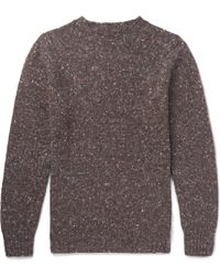 Anderson & Sheppard - Donegal Wool And Cashmere-blend Sweater - Lyst