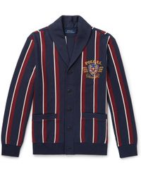 6451defc4 Lyst - Polo Ralph Lauren Textured Cotton Shawl-Collar Cardigan in ...