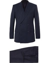 Kingsman Navy Harry Slim-fit Super 120s Wool And Cashmere-blend Suit - Blue