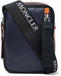 Moncler - Colour-block Leather Messenger Bag - Lyst