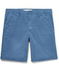 Norse Projects - Aros Slim-fit Garment-dyed Cotton-twill Shorts - Lyst