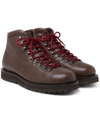 Brunello Cucinelli - Fleece-lined Burnished-leather Boots - Lyst