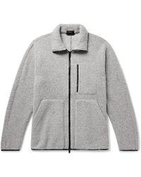 Theory - Arctic Mélange Wool-blend Fleece Jacket - Lyst