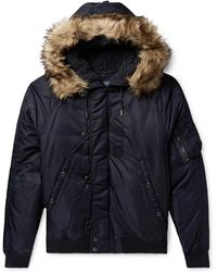 Polo Ralph Lauren - Faux Fur-trimmed Nylon-shell Down Bomber Jacket - Lyst