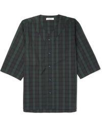 Nonnative - Handyman Collarless Checked Cotton-blend Ripstop Shirt - Lyst