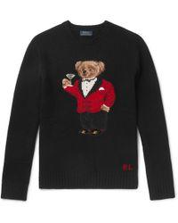 Polo Ralph Lauren - Bear-intarsia Wool Sweater - Lyst
