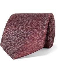 Giorgio Armani - 8cm Pin-dot Woven Silk Tie - Lyst