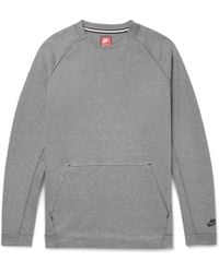 Nike - Sportswear Cotton-blend Tech Fleece Sweatshirt - Lyst