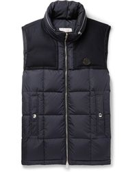 Moncler - Cesar Wool-trimmed Quilted Shell Down Gilet - Lyst