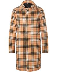 Burberry - Checked Alpaca And Wool-blend Coat - Lyst