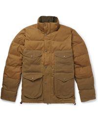 Filson - Cruiser Quilted Cotton-canvas Down Jacket - Lyst