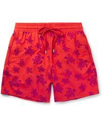Vilebrequin - Moorea Mid-length Flocked Swim Shorts - Lyst
