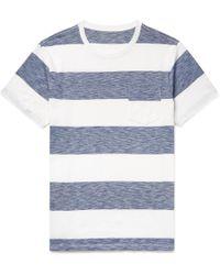 J.Crew - Striped Cotton-jersey T-shirt - Lyst
