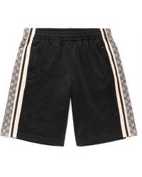Gucci - Logo-print Striped Tech-jersey Shorts - Lyst