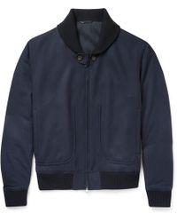 Brioni - Herringbone Wool Bomber Jacket - Lyst