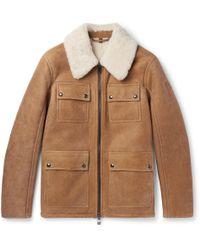 Belstaff - Upland Slim-fit Shearling Jacket - Lyst