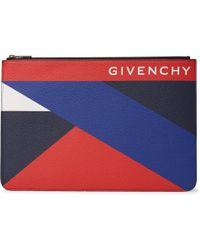 Givenchy - Colour-block Pebble-grain Leather Pouch - Lyst
