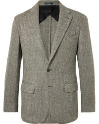 Polo Ralph Lauren - Morgan Slim-fit Unstructured Herringbone Wool-blend Blazer - Lyst