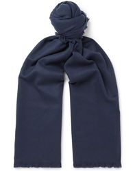 MR P. - Fringed Wool And Cashmere-blend Scarf - Lyst