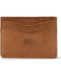 RRL - Roughout Suede Cardholder - Lyst