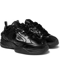 98db1237d8c Nike - + Martine Rose Air Monarch Iv Faux Patent-leather And Pu Sneakers -