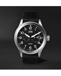 Oris - Big Crown Propilot Automatic Chronograph 44.7mm Stainless Steel And Nato Canvas Watch - Lyst
