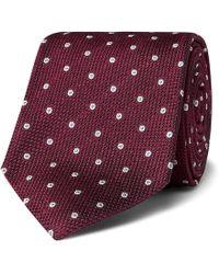 Kingsman - + Drake's 8cm Polka-dot Silk-jacquard Tie - Lyst