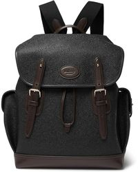 Mulberry - Heritage Leather-trimmed Pebble-grain Coated-canvas Backpack - Lyst