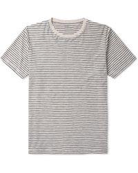 Hartford - Striped Mélange Cotton-jersey T-shirt - Lyst
