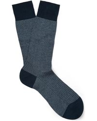 Pantherella - Fabian Herringbone Cotton-blend Lisle Socks - Lyst