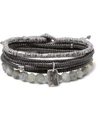 M. Cohen - The Create Stack Ii Sterling Silver And Labradorite Bracelet Set - Lyst