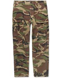 d24b13e793f6 Balenciaga - Cropped Camouflage-print Cotton-twill Cargo Trousers - Lyst