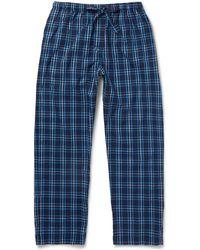 Derek Rose - Checked Cotton-flannel Pyjama Trousers - Lyst