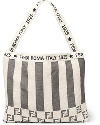 Fendi - Convertible Logo-jacquard Cotton-blend Terry Tote Bag - Lyst