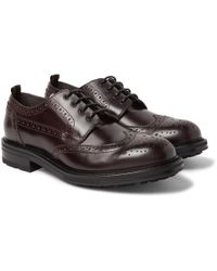 Dunhill - Traction Leather Wingtip Brogues - Lyst