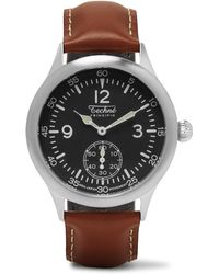 Techné - Merlin 246 Stainless Steel And Leather Watch - Lyst