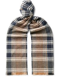 Oliver Spencer Checked Organic Cotton Scarf - Multicolour