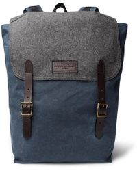 Filson - Ranger Leather-trimmed Twill Backpack - Lyst